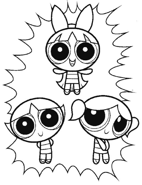 500x650 The Three Powerpuff Girls Funny Coloring Pages Coloring Pages