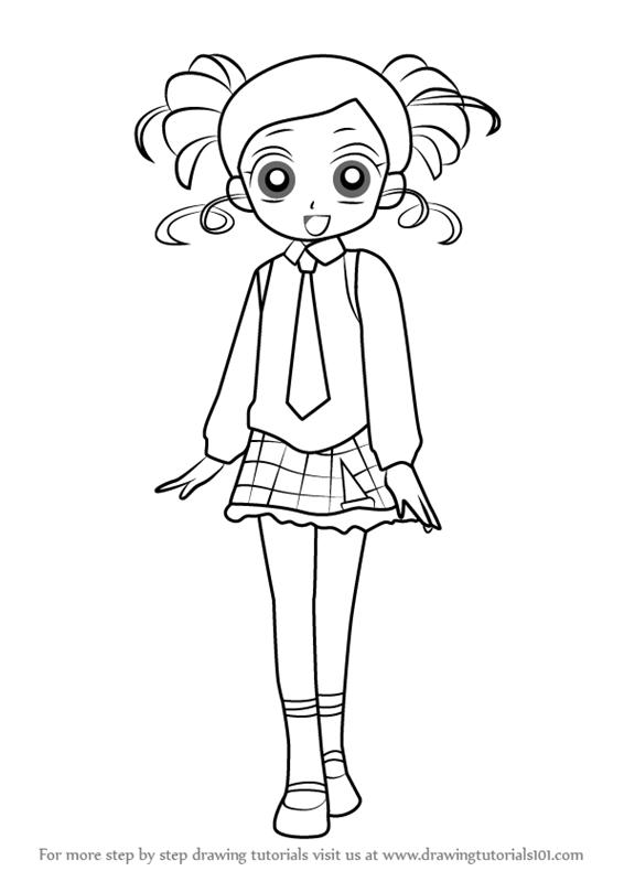 566x800 Learn How To Draw Miyako Gotokuji From Powerpuff Girls Z