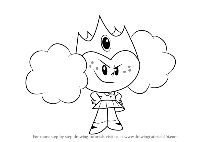 800x565 Learn How To Draw Princess Morbucks From The Powerpuff Girls (The