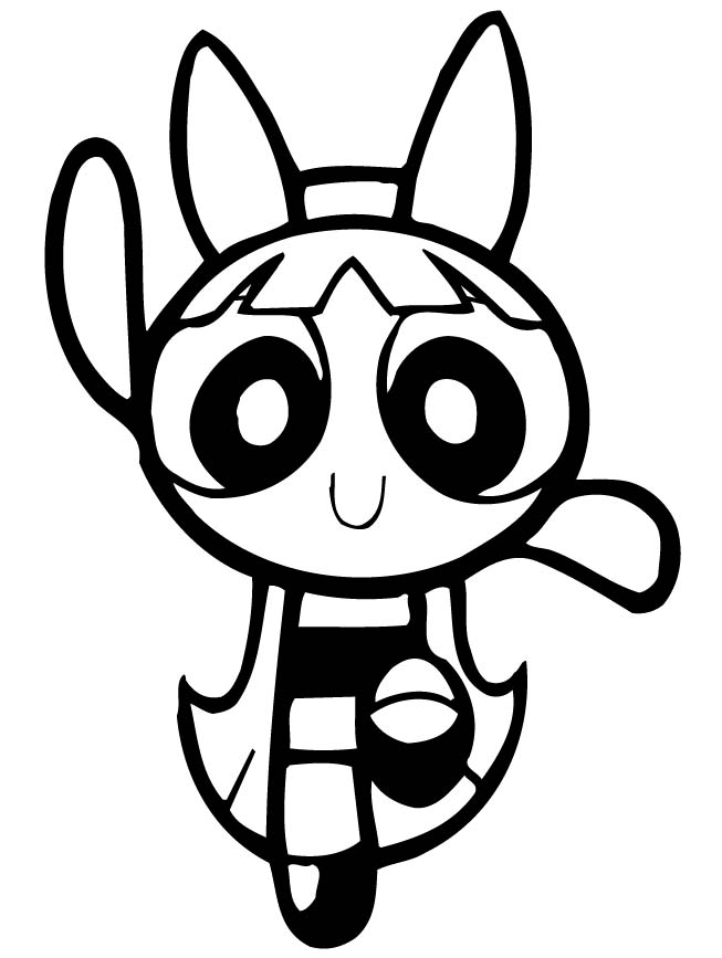 653x867 Powerpuff Girls Blossom Dancing Coloring Page