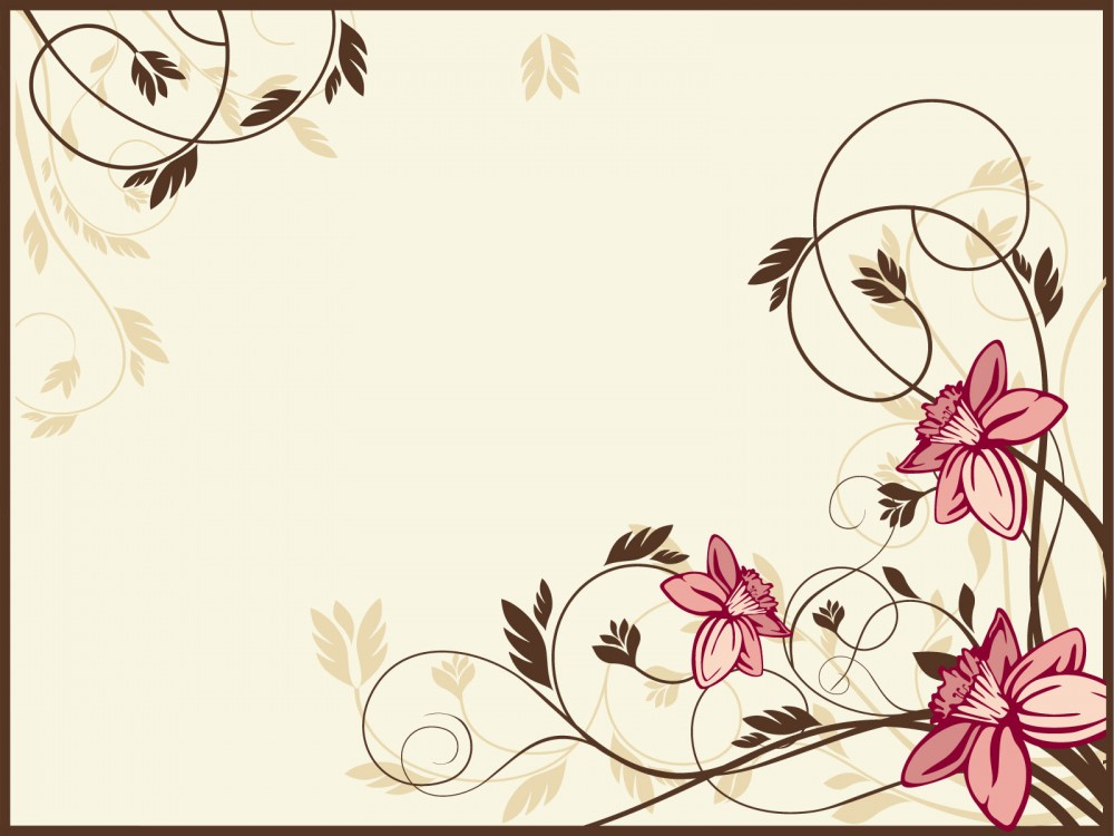 1000x750 Retro Flowers Ppt Backgrounds