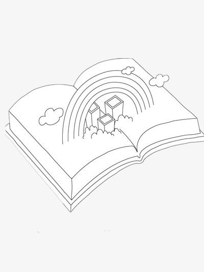 400x533 Stick Figure Book, Ppt Element, Cartoon, Open Book Png Image