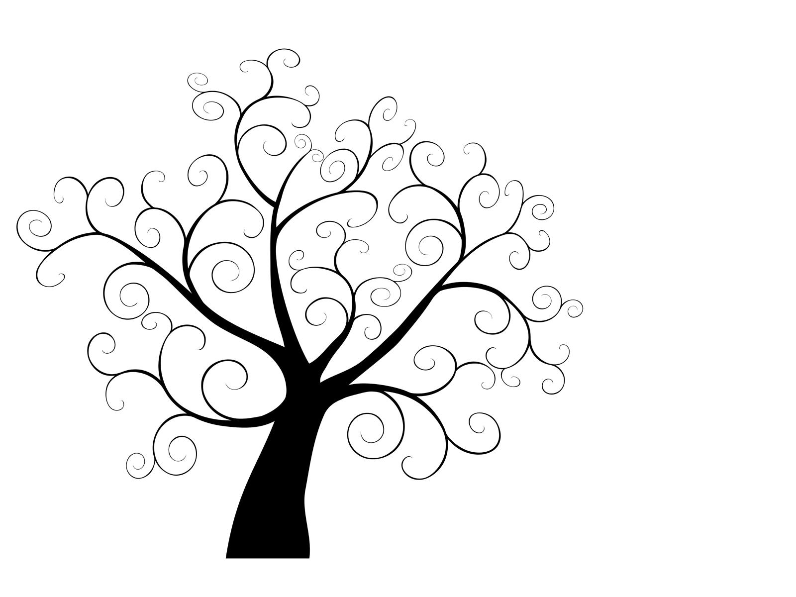 1600x1200 Swirly Tree Ppt Backgrounds, Swirly Tree Ppt Photos, Swirly Tree