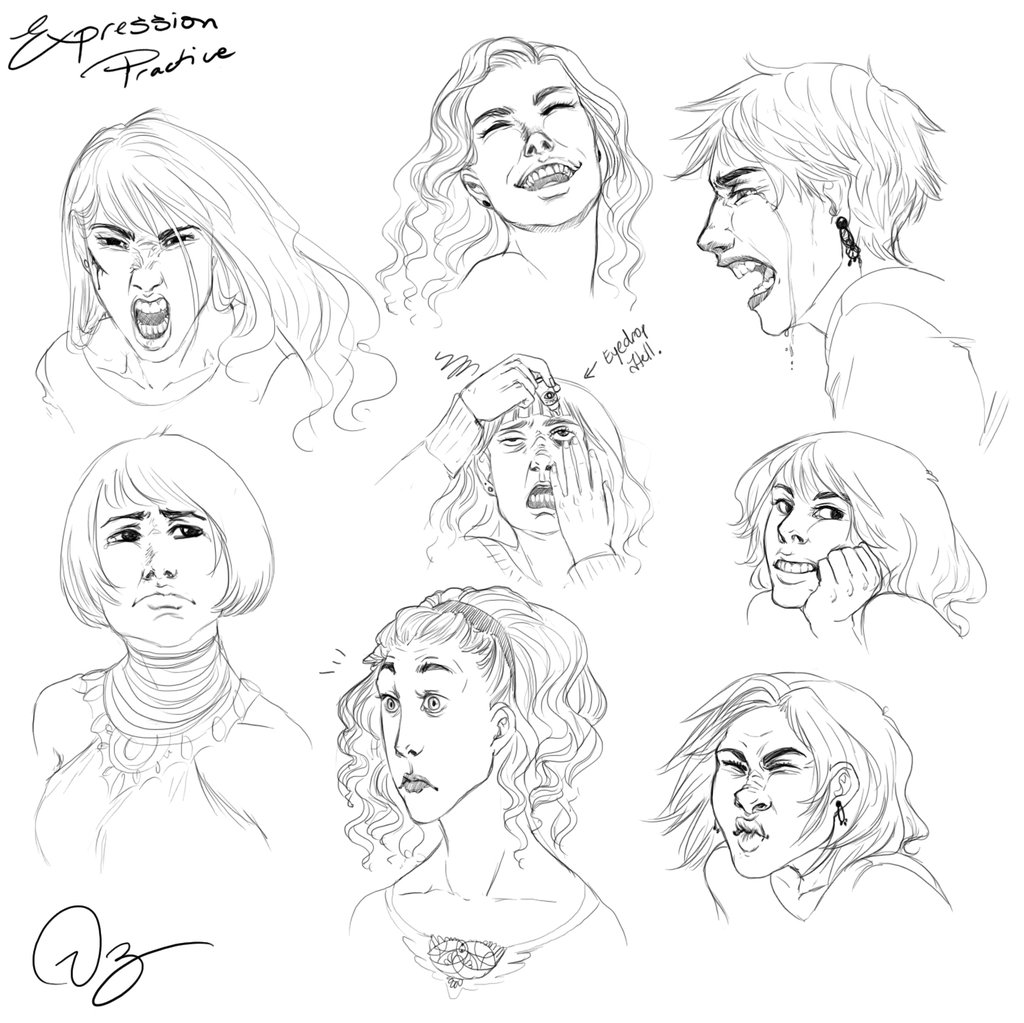1024x1023 Expression Practice By Palnk