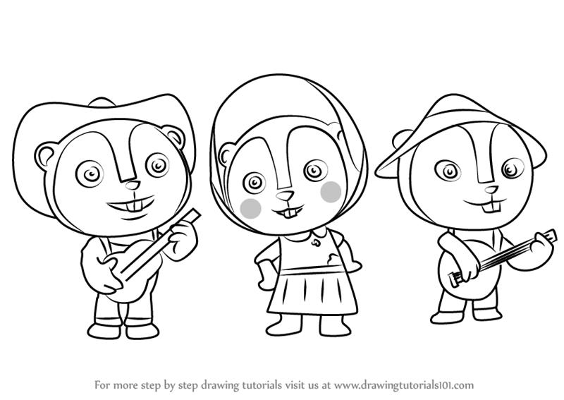 800x567 Learn How To Draw Prairie Dog Trio From Sheriff Callie's Wild West
