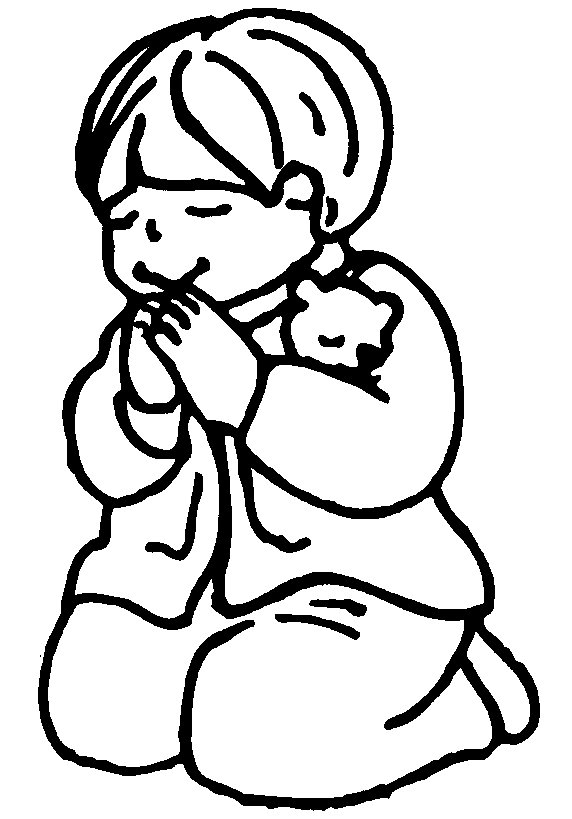 572x819 Image Of Children Praying Clipart