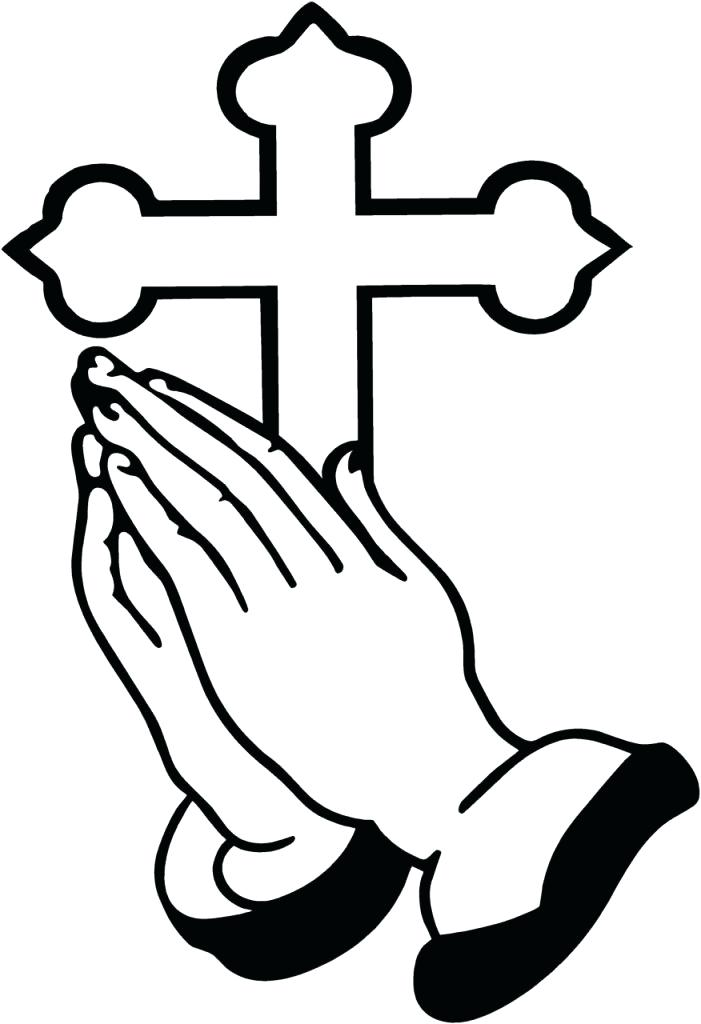 701x1024 Praying Hands Coloring Page Plus Bible With Praying Hands Coloring