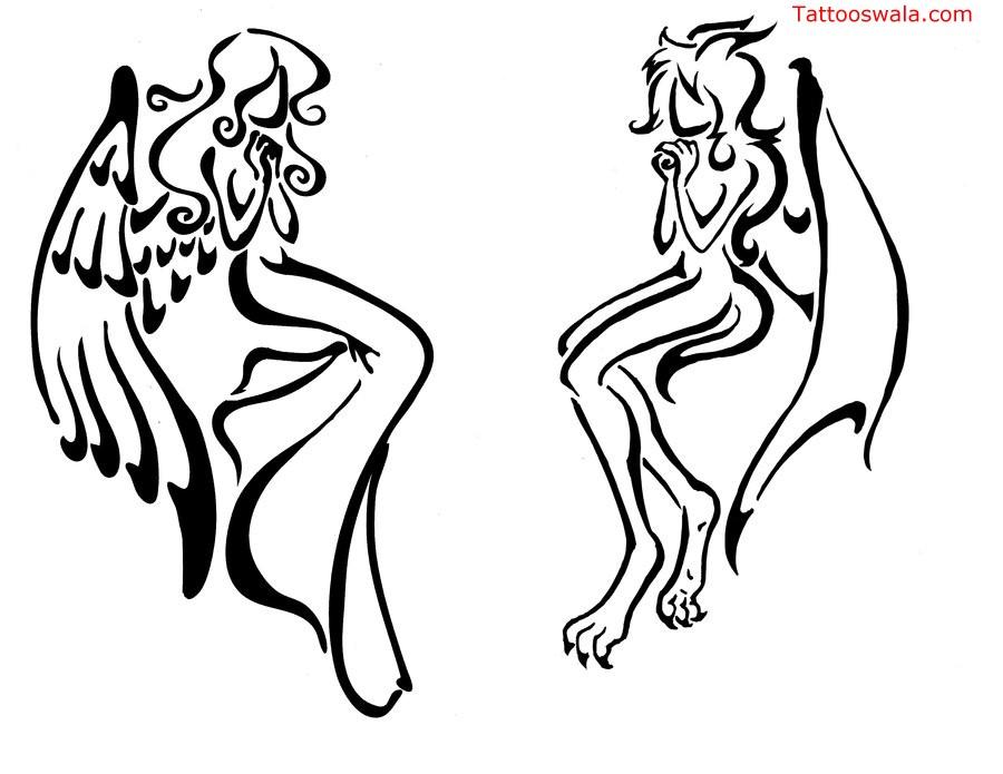 900x695 Praying Angel Tattoo Designs