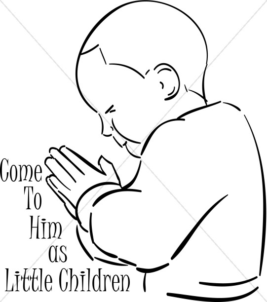 541x612 Come As Little Child Praying Prayer Clipart