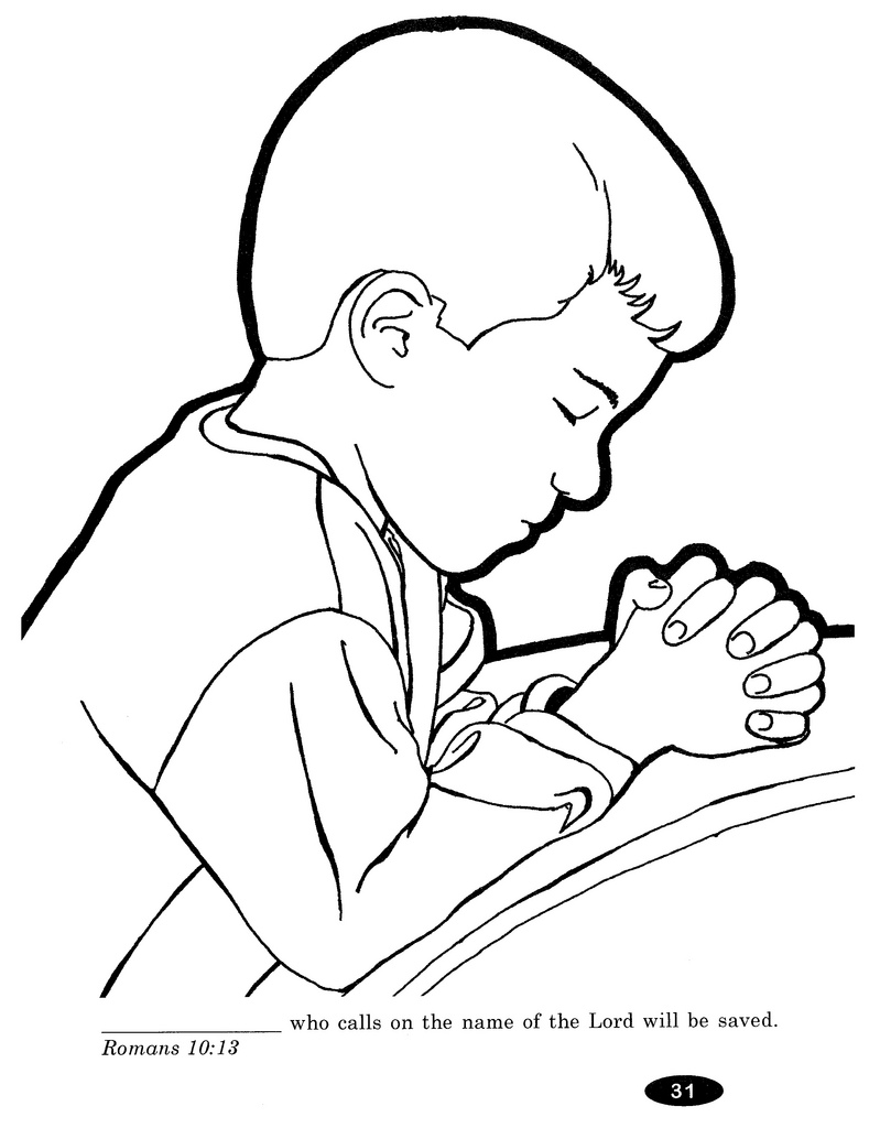 799x1024 Praying Child Coloring Pages
