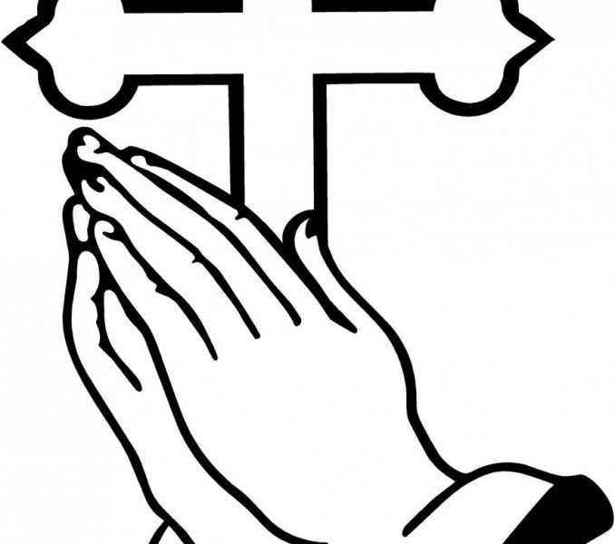 678x600 Elegant Praying Hands Coloring Page 33 About Remodel Line Drawings
