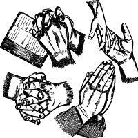 200x200 Hand Drawn Praying Hands Vector Art Images Stockgraphicdesigns