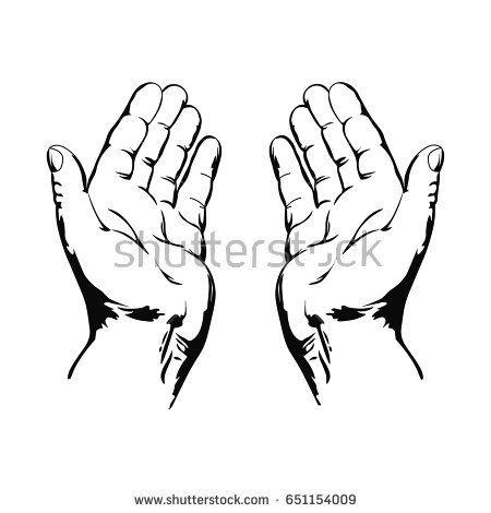 450x470 Nice Prayer Background Praying Hands Drawing Vector Illustration