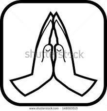 220x229 Praying Hands Vector Image Digi Stamps Line Drawings