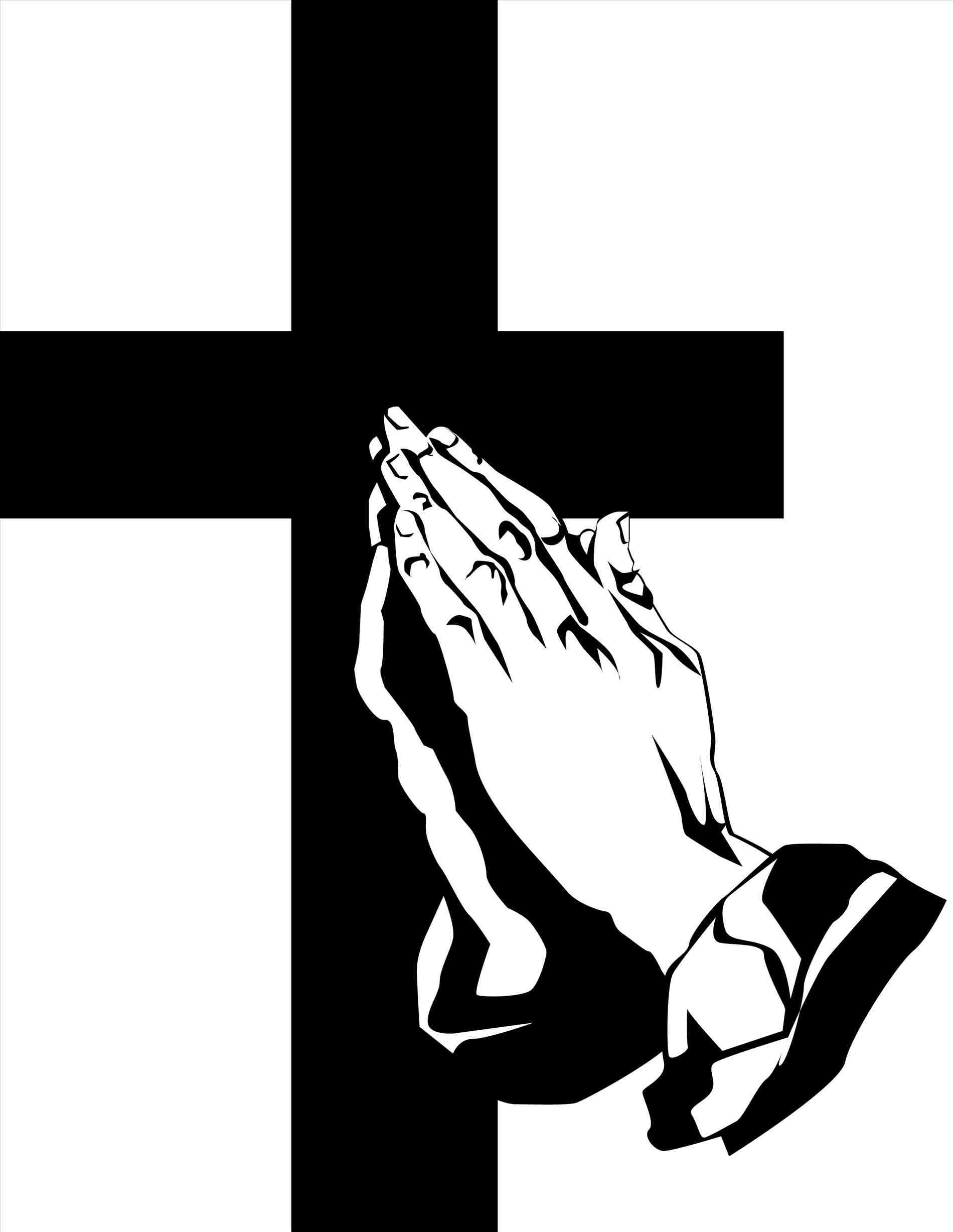 1900x2455 Drawings Of Crosses With Praying Hands