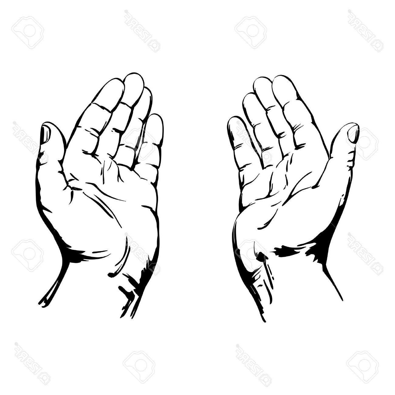 1300x1300 Best Free Praying Hands Stock Vector God Hand Photos