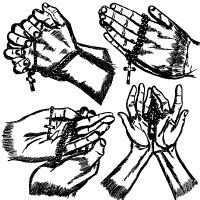 200x200 Hand Drawn Praying Hands Vector Illustration Stockgraphicdesigns