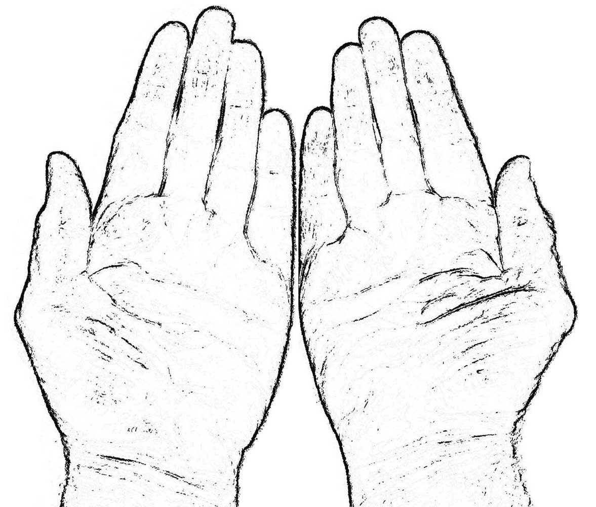 1177x1000 Of Praying Hands Coloring Page Free Download