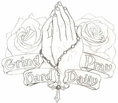 236x207 Praying Hands With Rosary Tattoo God Stock Image