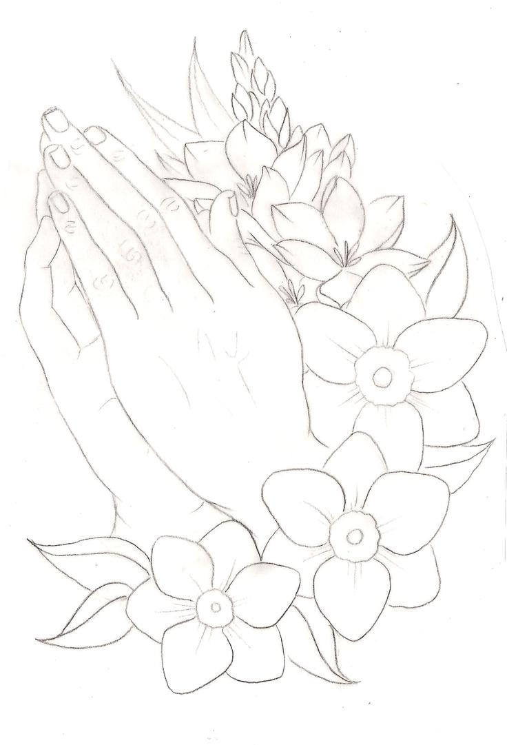 736x1081 Top Praying Hands Drawing Tattoo Photos