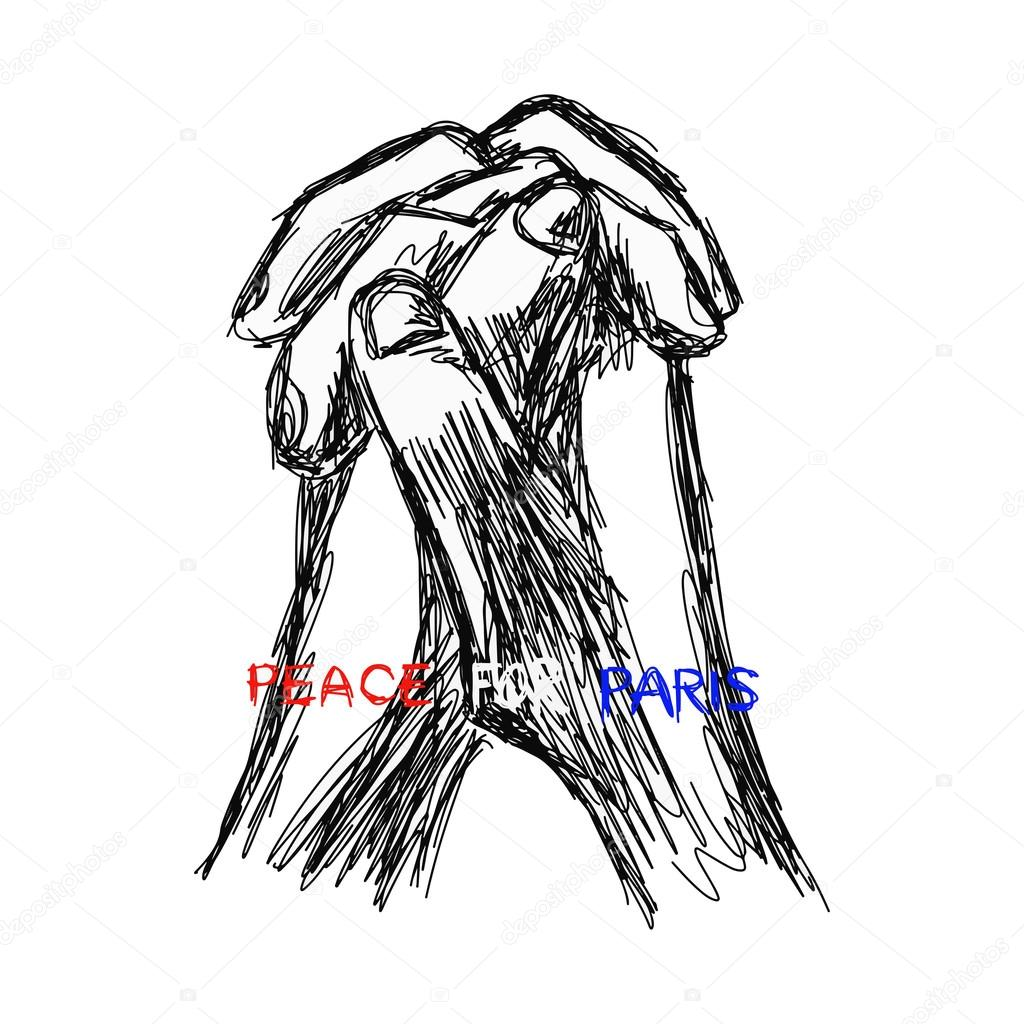 1024x1024 Illustration Vector Doodle Hand Drawn Of Sketch Praying Hands