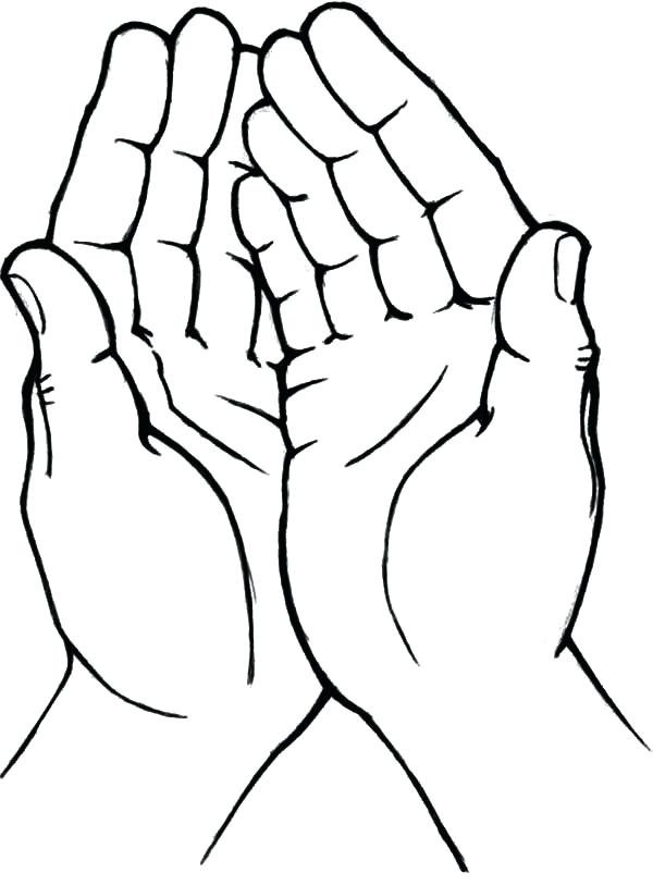 600x813 Free Praying Hands Coloring Sheet