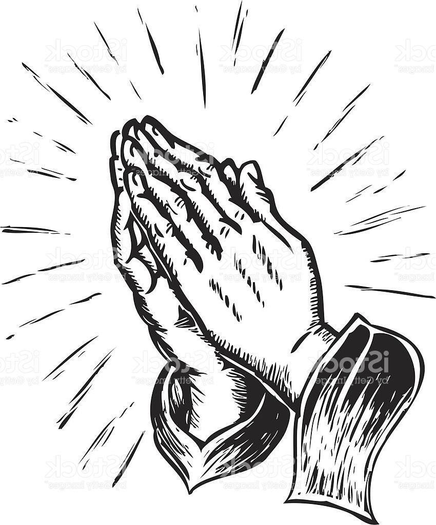 850x1024 Hd Sketchy Praying Hands Illustration Image