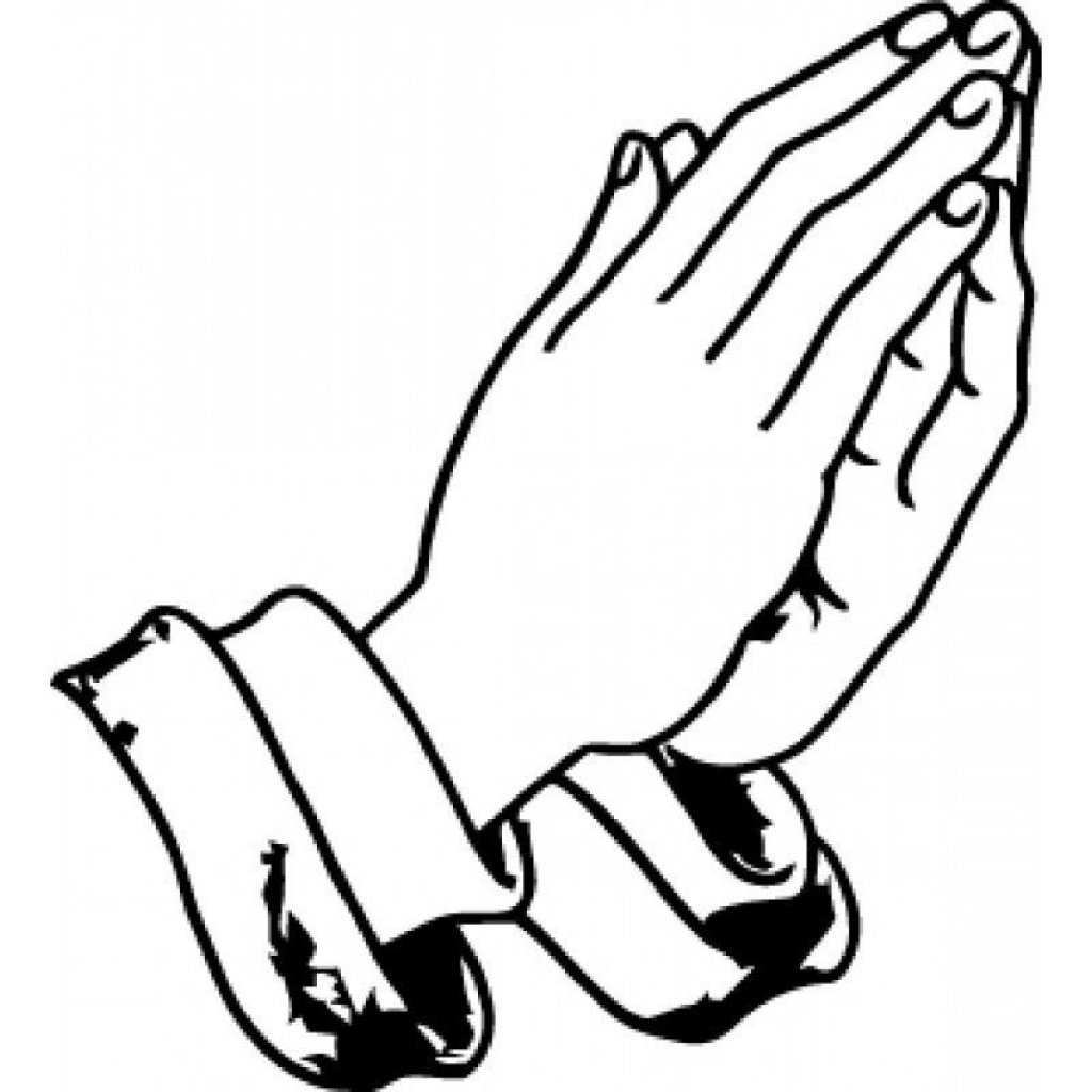 1024x1024 Praying Hands Coloring Page