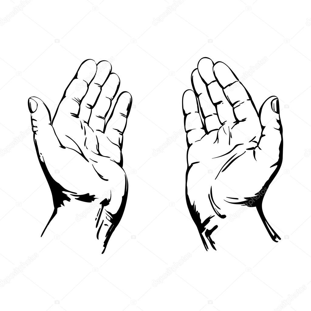 Praying Hands Drawing Step By Step