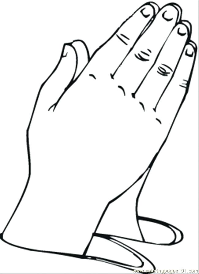 650x895 Praying Hands Coloring Page Hand Colouring Pages Free