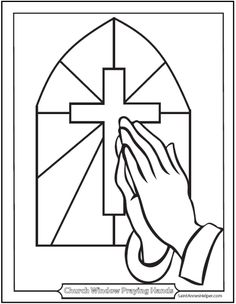 236x304 Praying Hands For Kids Coloring Page Free Download