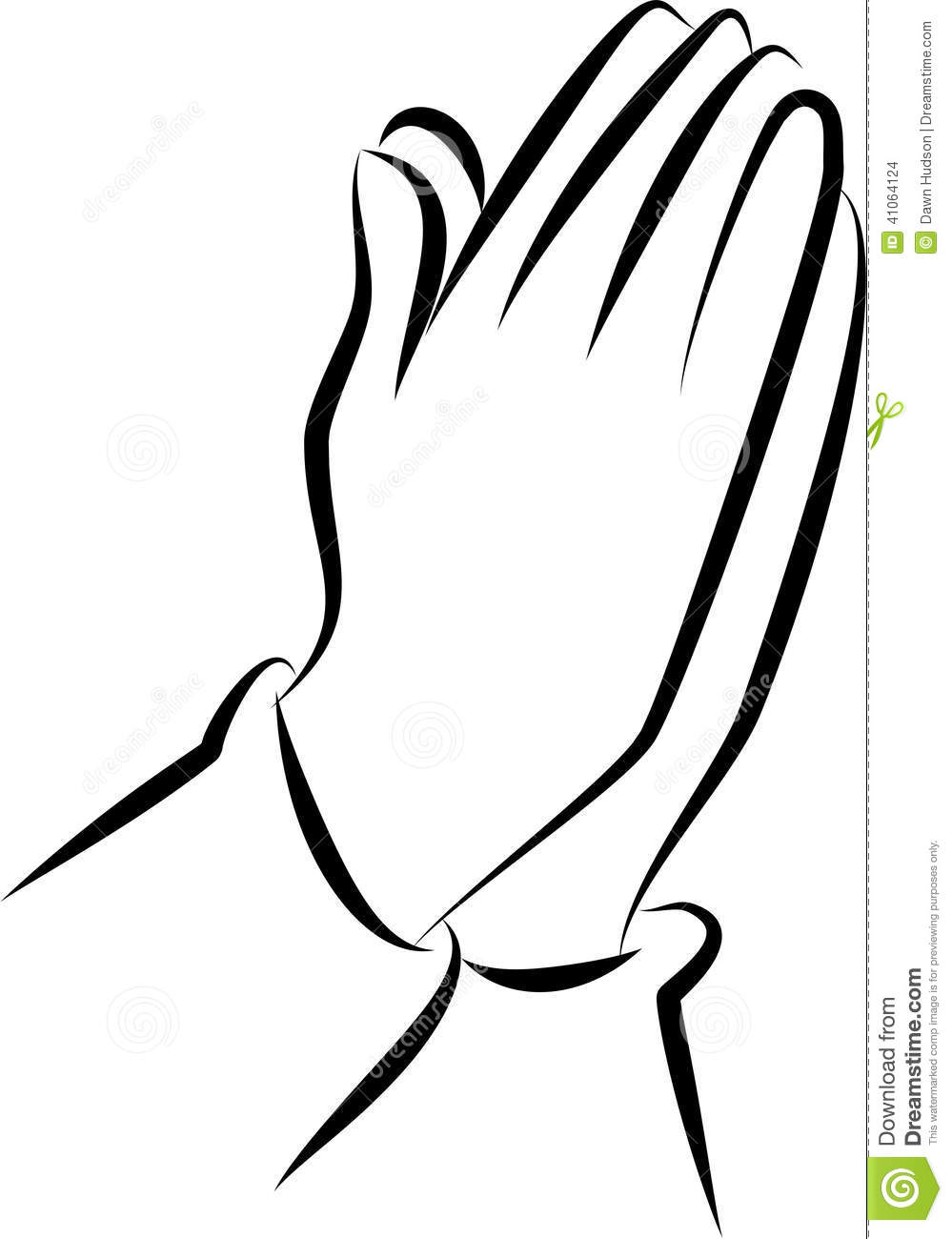 999x1300 Praying Hands Clip Art Simple Black White Line Drawing Pair
