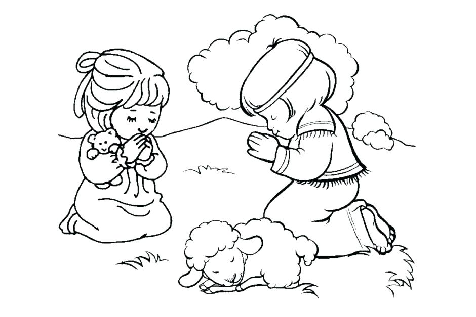 940x627 Praying Hands Coloring Page