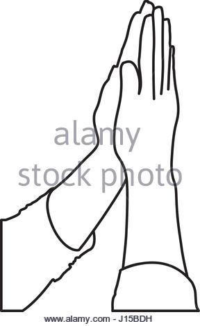 288x470 Vector Illustration Of Praying Hands Stock Vector Art
