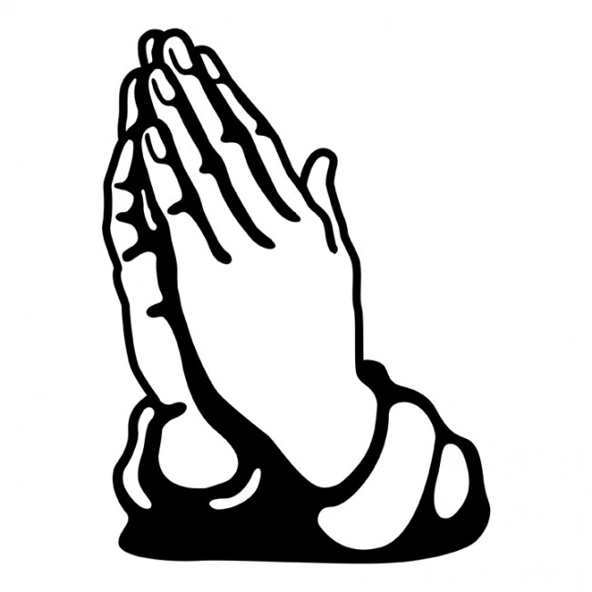 650x650 Black And White Praying Hands Clipart 101 Clip Art