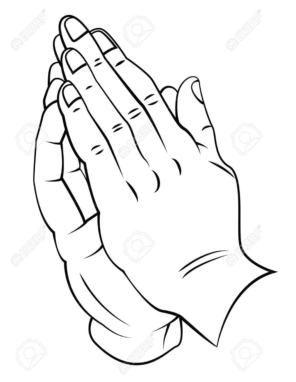 Praying Hands Drawing Tutorial