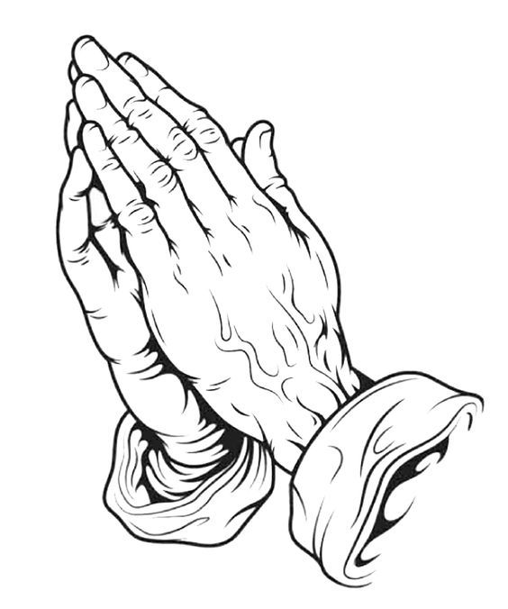 564x676 Hands Tattoo On Praying Hands With Rosary Prayer Hands