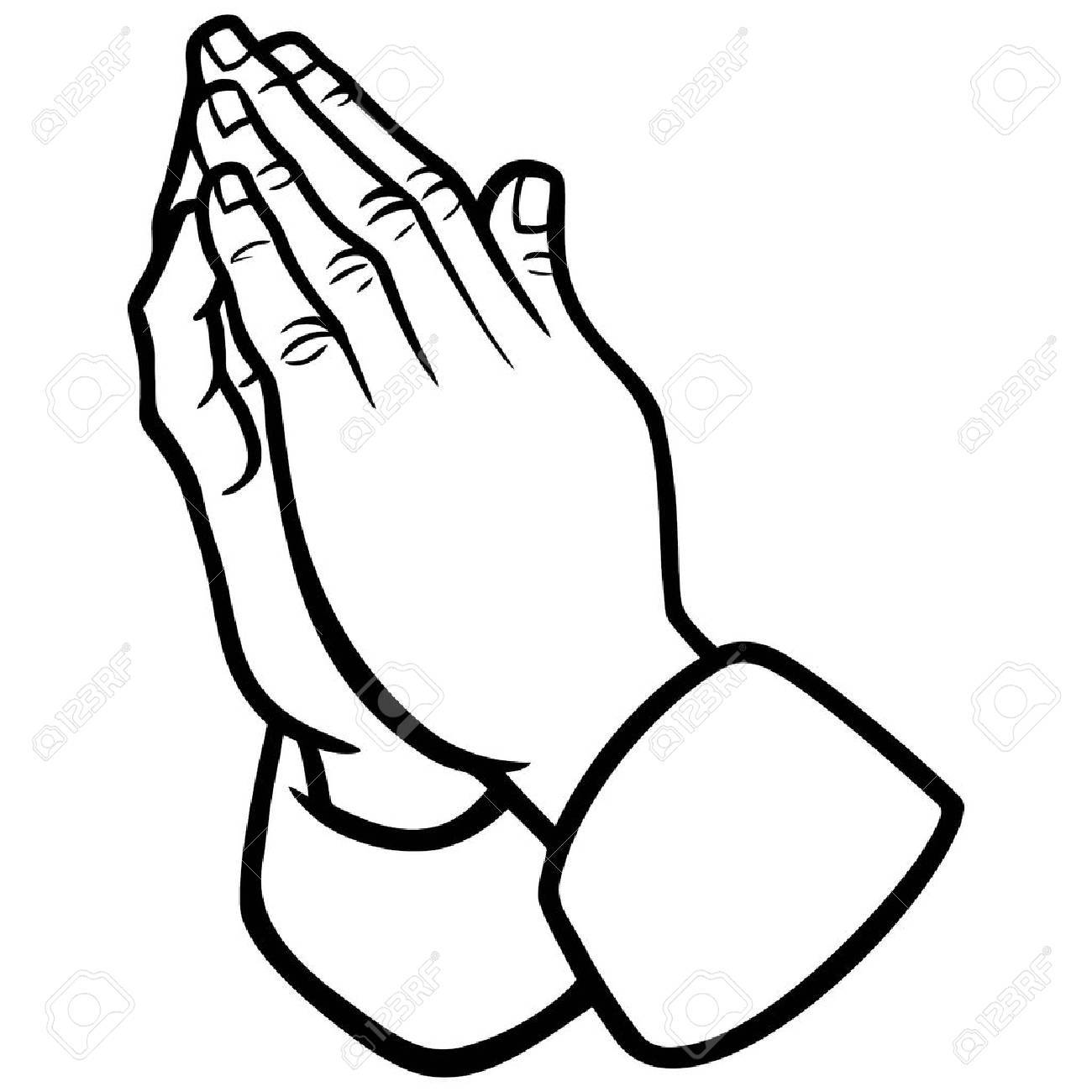 1300x1300 Praying Hands Illustration Royalty Free Cliparts, Vectors,