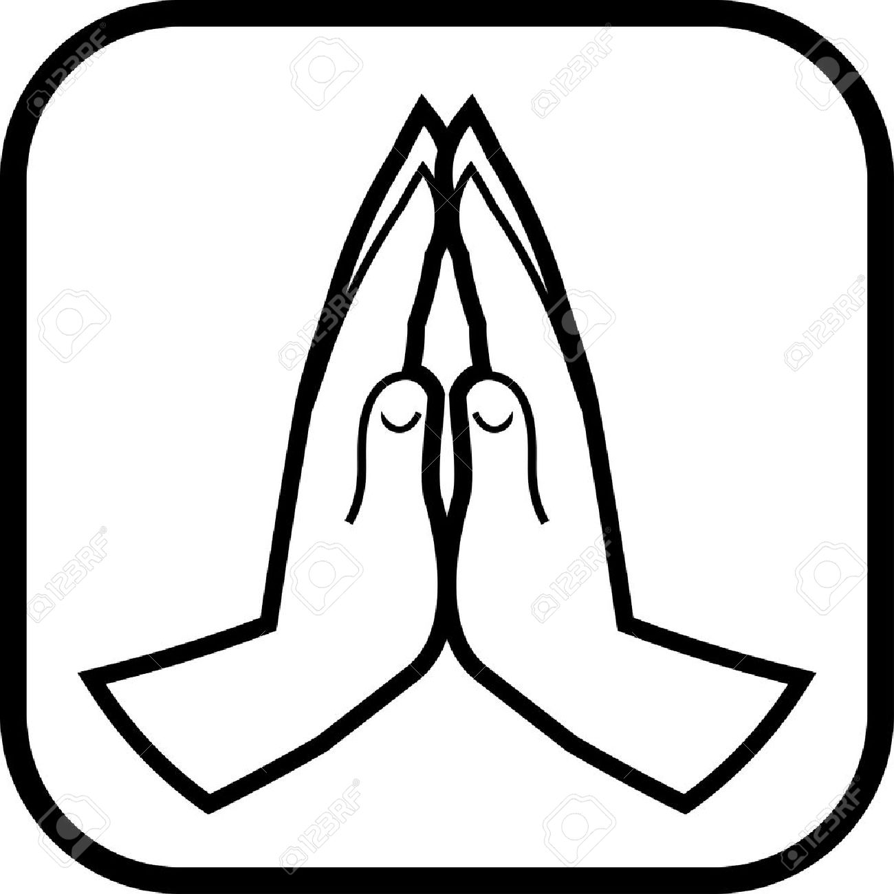 1300x1300 Praying Hands Vector Icon Royalty Free Cliparts, Vectors,