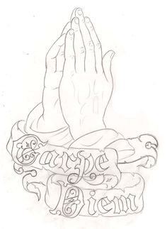 236x323 How To Draw Praying Hands Tattoo Step 9