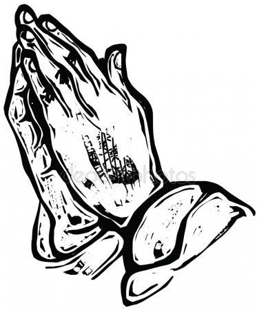 373x450 Drawing Of Praying Hands Stock Vector Prawny