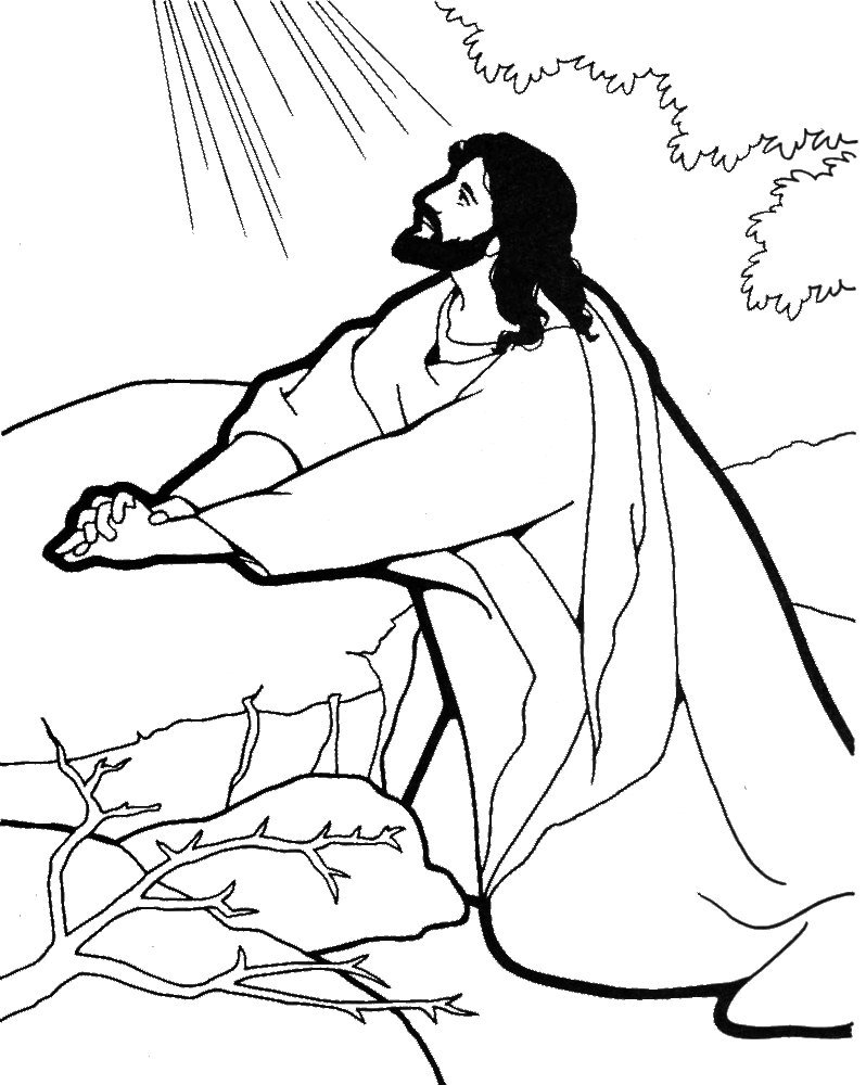 798x1000 Praying Hands Coloring Page