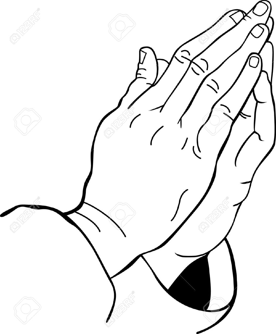 1074x1300 Praying Hands Line Drawing You Entrust Your Religious Teachings