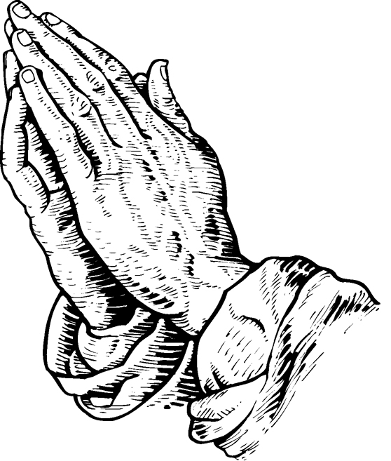Praying Hands Line Drawing at GetDrawings | Free download