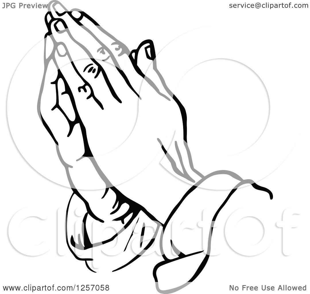 1080x1024 Clipart Of Black And White Prayer Hands