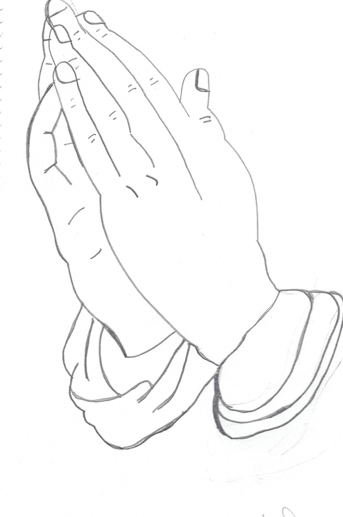 680x1024 Drawing Of Hands Praying