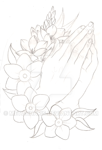 400x588 Praying Hands Tattoo by Metacharis on DeviantArt