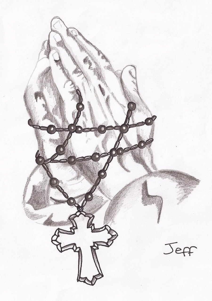 900x1275 Praying hands and rosary beads by AmyLou31 on DeviantArt