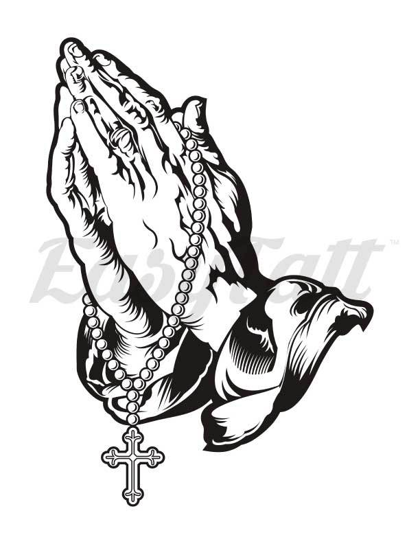 612x792 Temporary tattoos by Easytatt, Praying Hands temporary and fake