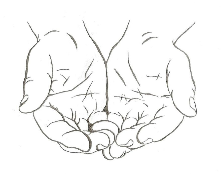 878x692 Coloring marvellous praying hands outline. Praying Hands With